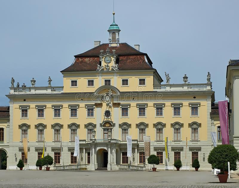 Castello di Schloss Ludwigsburg a Stuttgart in Germania fotografia stock libera da diritti