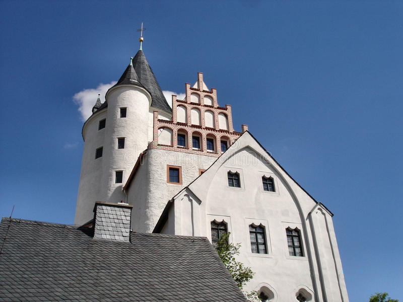 Castello di Schwarzenberg nel Erzgebirge fotografia stock