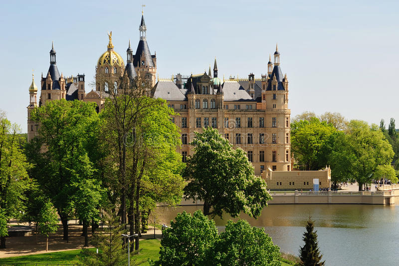 Castello di Schwerin fotografia stock libera da diritti