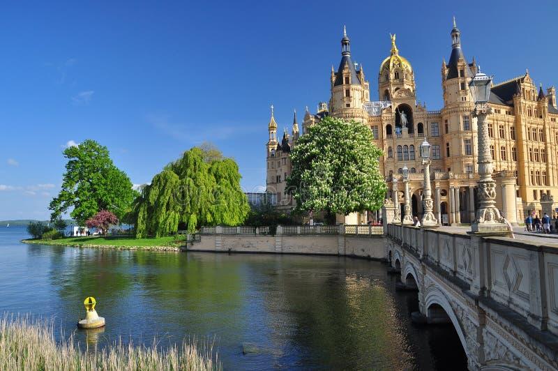 Castello di Schwerin, Mecklenburg, Germania immagine stock libera da diritti