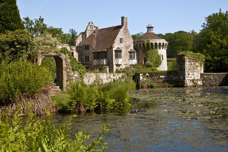 Castello di Scotney, Risonanza, Inghilterra, Regno Unito fotografie stock libere da diritti