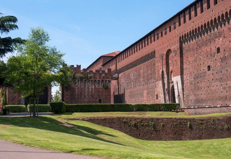 Castello di Sforza - Castello Sforzesco- Milano, Italia immagine stock