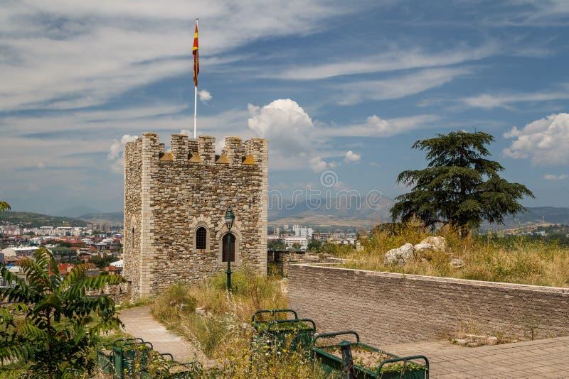 Castello di Skopje, capitale della Macedonia fotografia stock