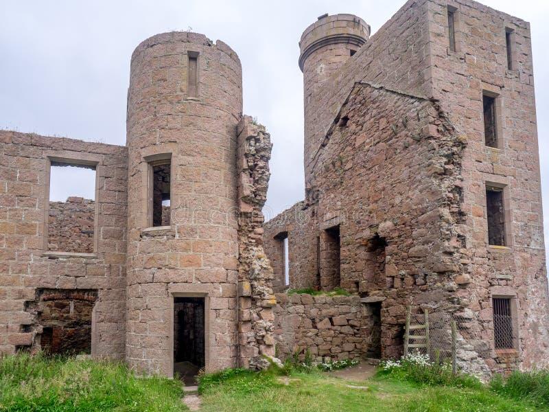 Castello di Slains, Scozia immagini stock libere da diritti