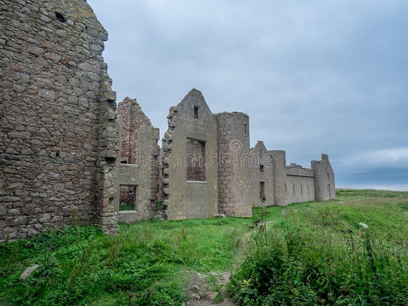 Castello di Slains, Scozia fotografia stock