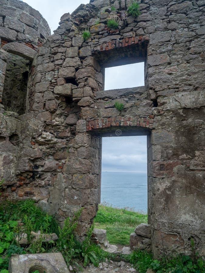 Castello di Slains, Scozia fotografie stock