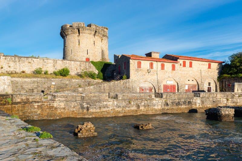 Castello di Socoa nel dipartimento di Pirenei-Atlantiques, Francia immagine stock libera da diritti