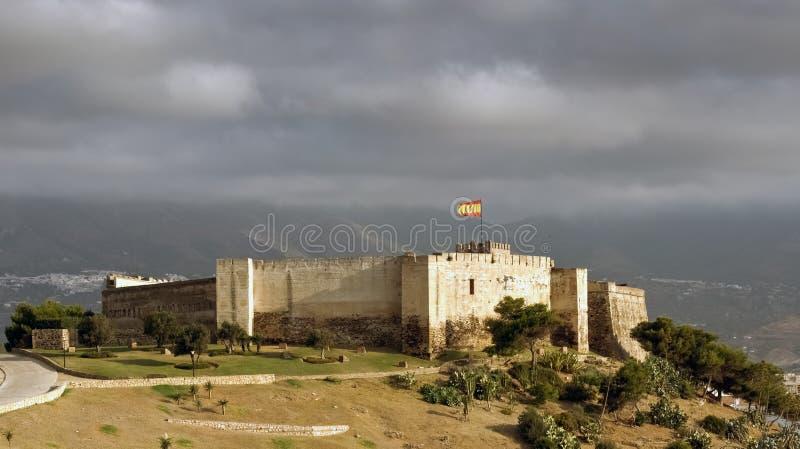 Castello di Sohail, Fuengirola, Spagna fotografia stock libera da diritti
