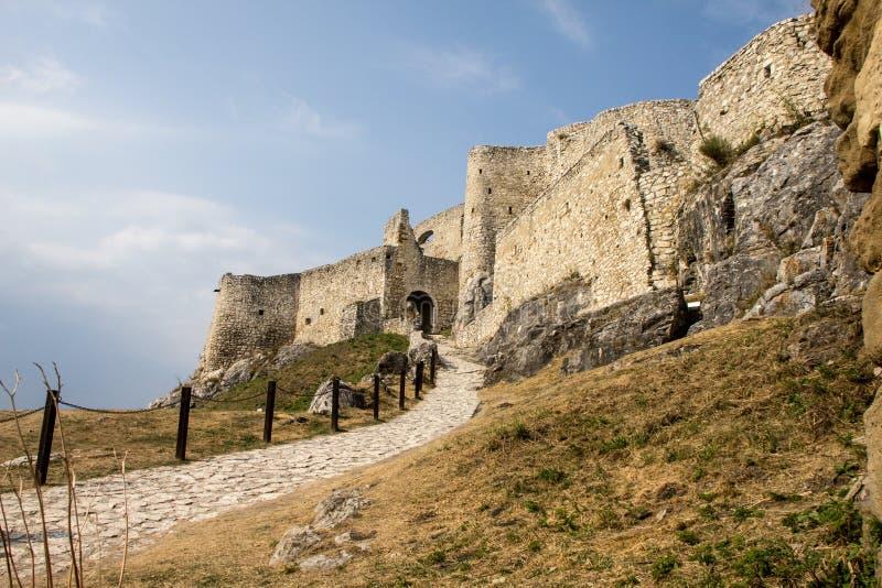 Castello di Spiski Hrad fotografia stock libera da diritti