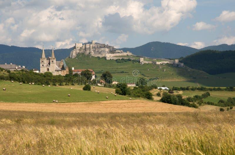 Castello di Spisska Kapitula e di Spis, Slovacchia fotografia stock libera da diritti