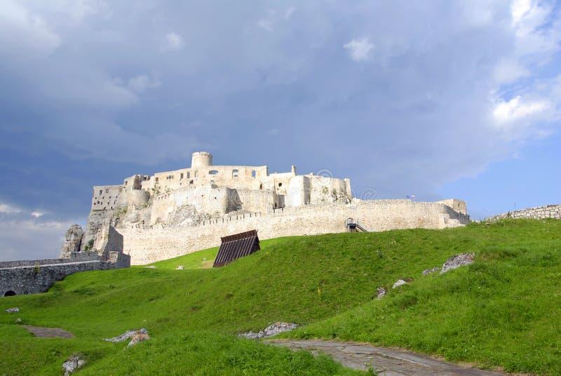 Castello di Spissky fotografia stock