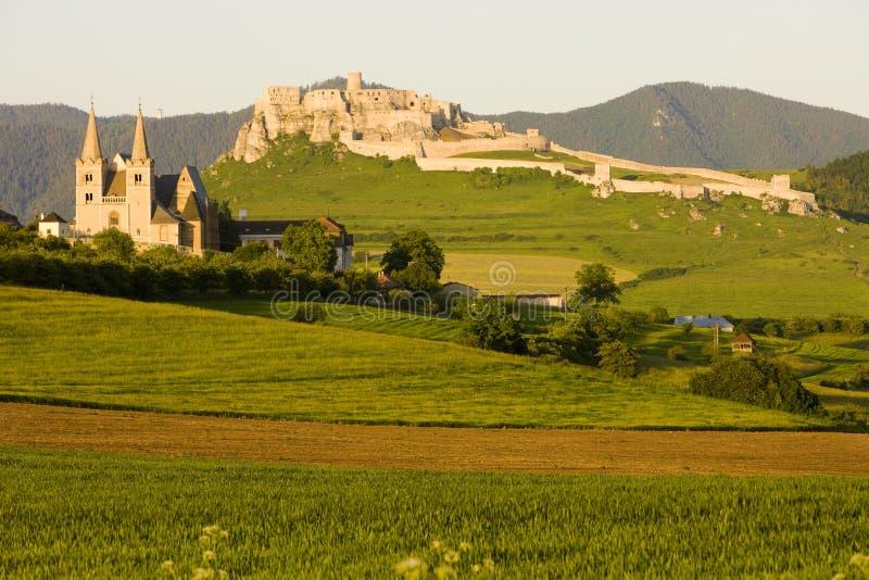 Castello di Spissky, Slovacchia fotografia stock