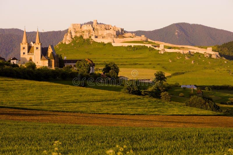 Castello di Spissky, Slovacchia fotografia stock libera da diritti