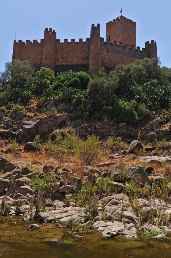 Castello di Templar di Almourol in Tomar immagini stock