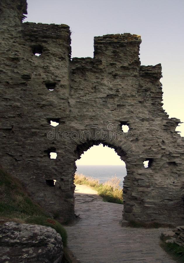 Castello di Tintagel, Cornovaglia, Inghilterra fotografia stock