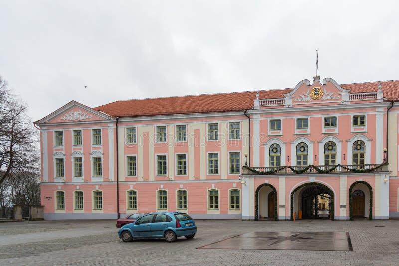 Castello di Toompea, il centro del governo dell'Estonia immagini stock libere da diritti
