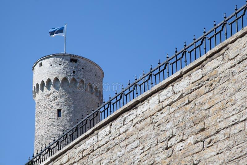 Castello di Toompea a Tallinn fotografia stock libera da diritti