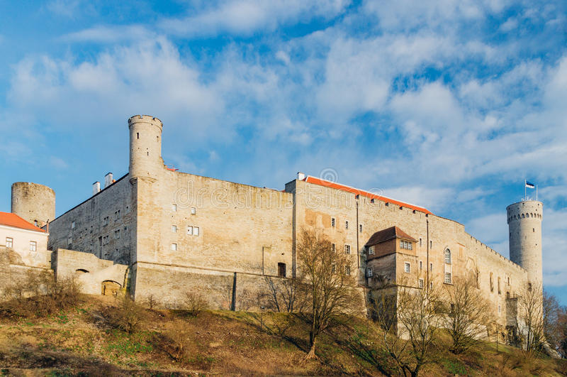 Castello di Toompea, Tallinn, Estonia immagini stock libere da diritti