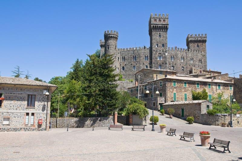 Castello di Torre Alfina. Il Lazio. fotografie stock