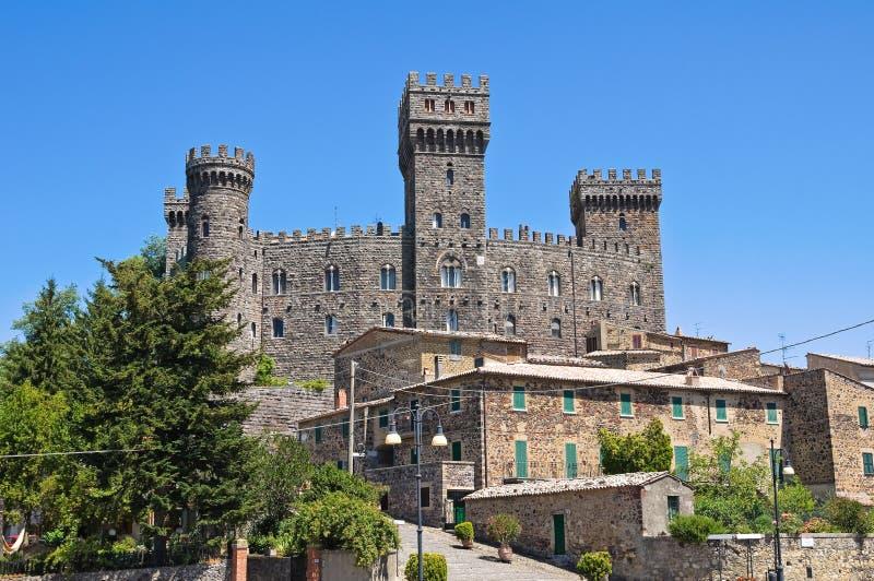 Castello di Torre Alfina. Il Lazio. L'Italia. fotografie stock libere da diritti