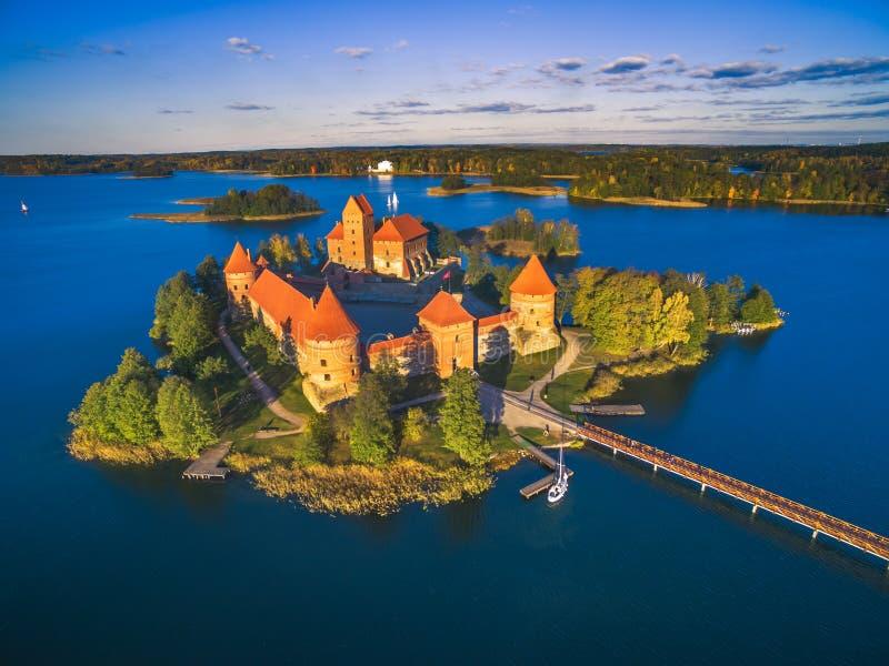 Castello di Trakai immagini stock