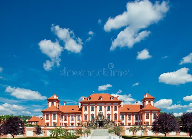 Castello di Troja a Praga fotografia stock libera da diritti