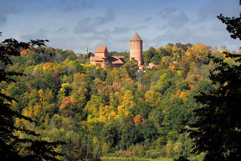 Castello di Turaida fotografie stock
