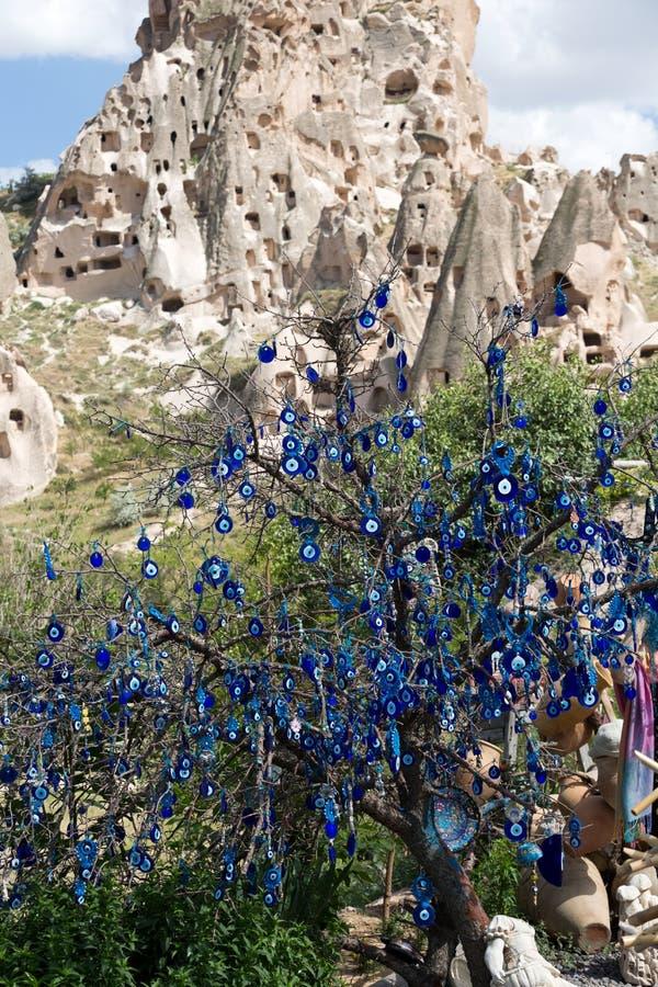 Castello di Uchisar in Cappadocia, immagini stock