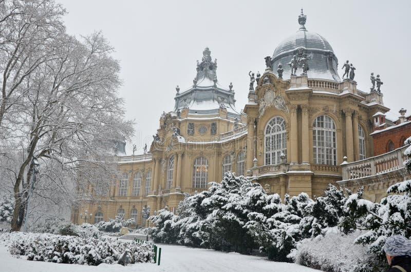 Castello di Vajdahunyad a Budapest immagini stock