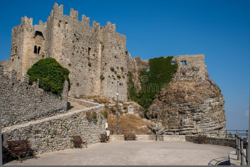 Castello di Venere dans Erice La Sicile, Italie image libre de droits