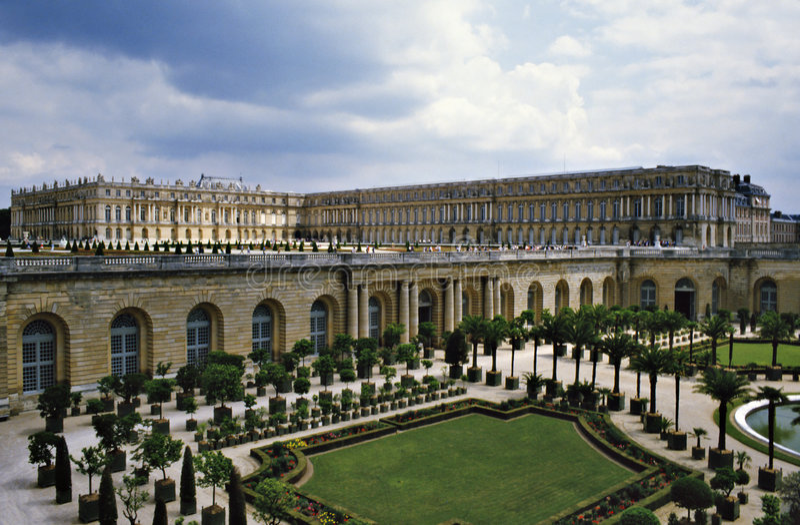 Castello di Versailles fotografie stock