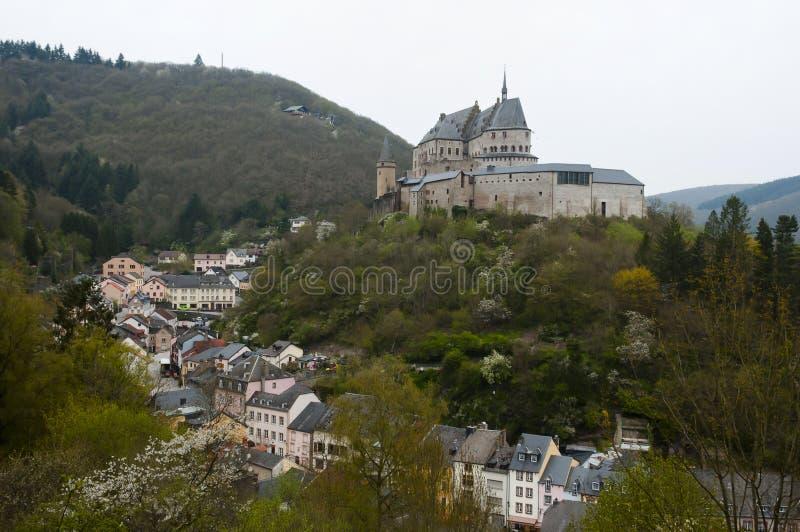 Castello di Vianden - Lussemburgo fotografia stock libera da diritti