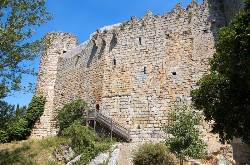 Castello di Villerouge-Termenes immagini stock