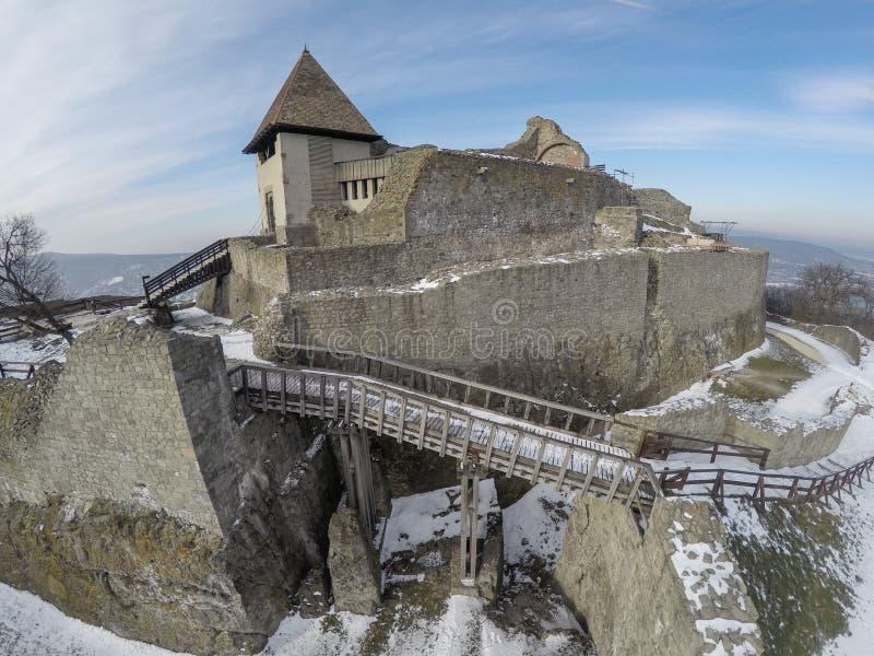 Castello di Visegrad da sopra immagini stock libere da diritti