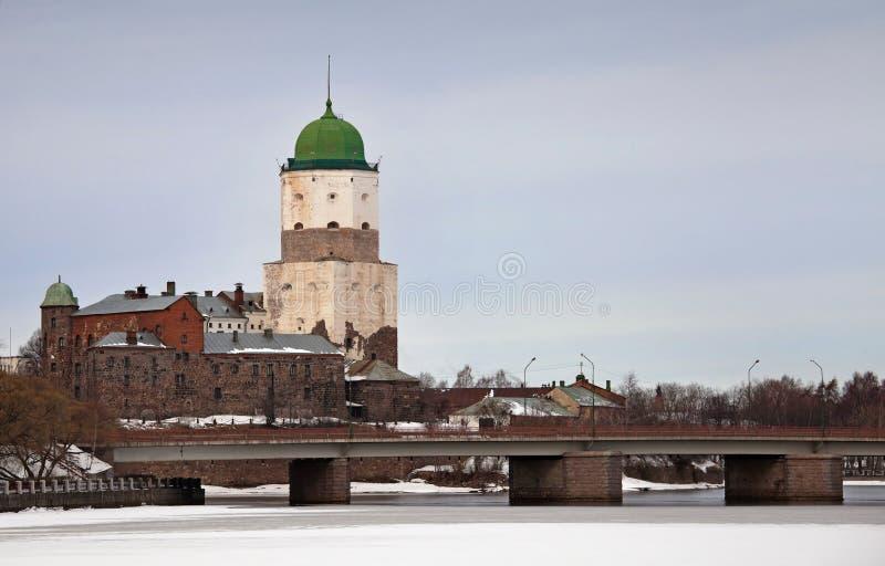 Castello di Vyborg. La Russia fotografia stock