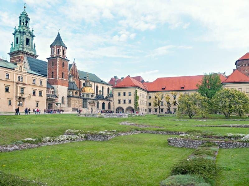 Castello di Wawel courtyard fotografia stock