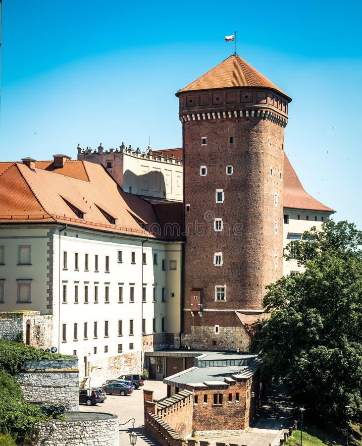 Castello di Wawel a Cracovia fotografie stock libere da diritti