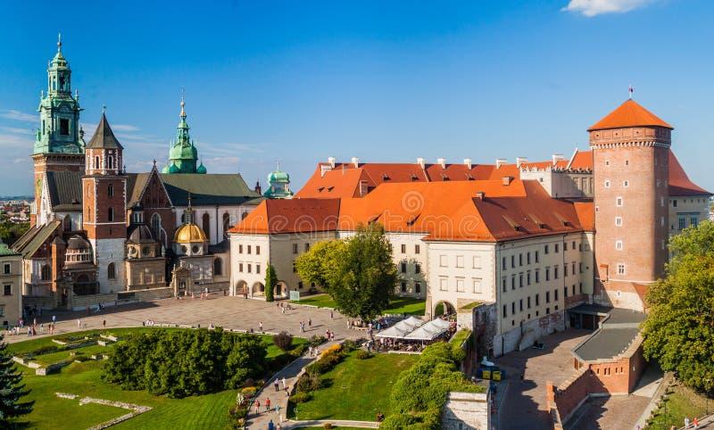 Castello di Wawel a Cracovia, Pola immagini stock libere da diritti