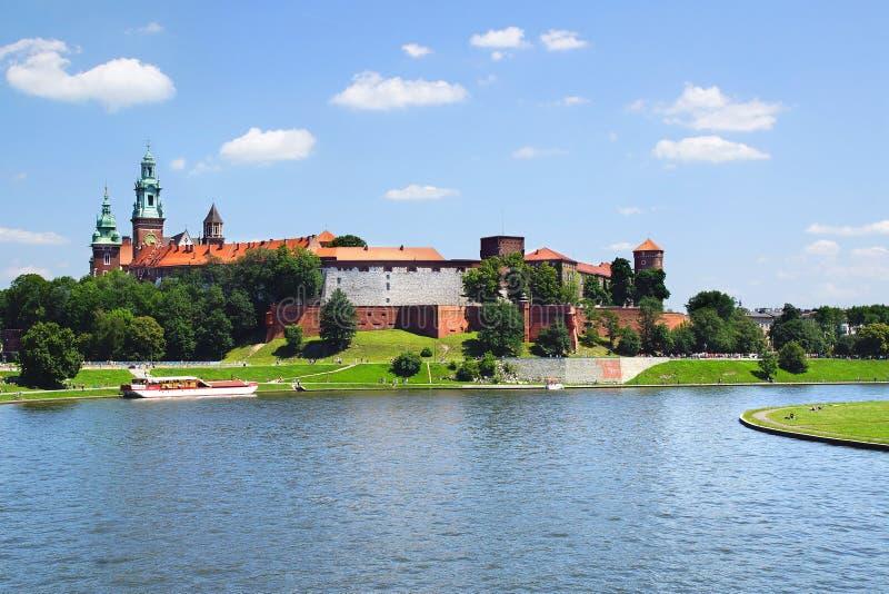 Castello di Wawel Cracovia, Polonia immagini stock libere da diritti