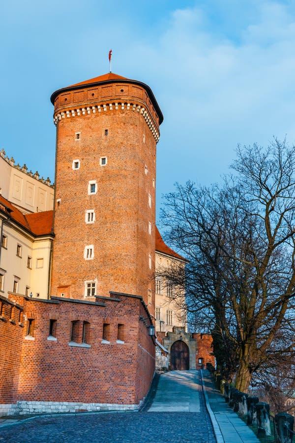 Castello di Wawel a Cracovia, una del punto di riferimento più famoso in Polonia immagini stock