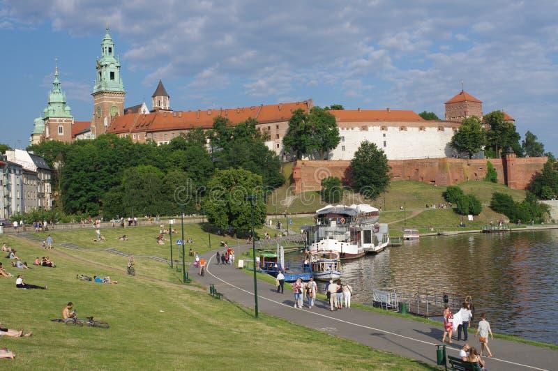Castello di Wawel e la cattedrale fotografia stock
