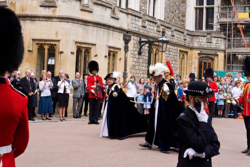 Castello di Windsor di giorno della giarrettiera immagini stock libere da diritti