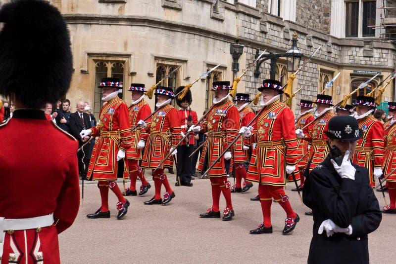Castello di Windsor di giorno della giarrettiera immagine stock libera da diritti