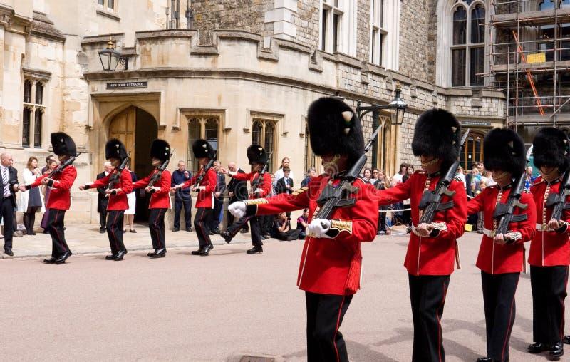 Castello di Windsor di giorno della giarrettiera fotografie stock libere da diritti