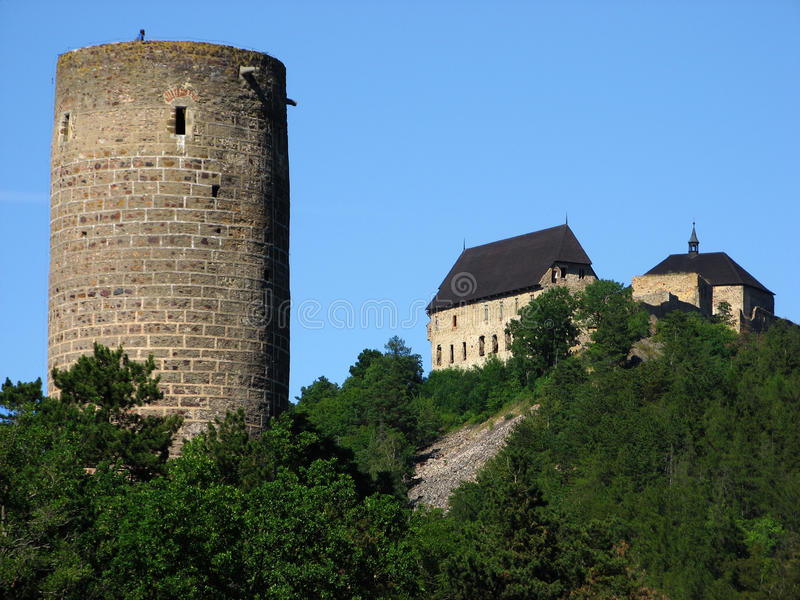 Castello di Zebrak e castello di Tocnik fotografia stock libera da diritti
