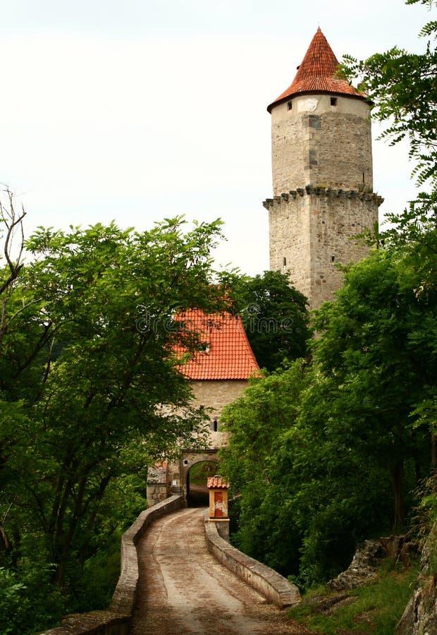 Castello di Zvikov fotografie stock libere da diritti
