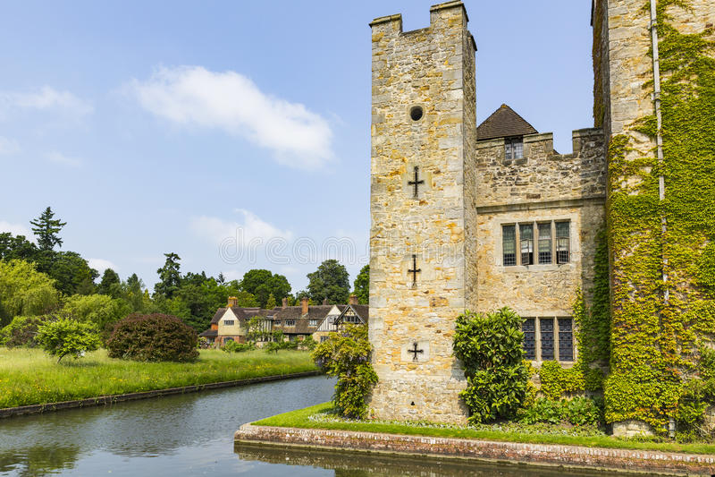 Castello e fossato di Hever fotografia stock