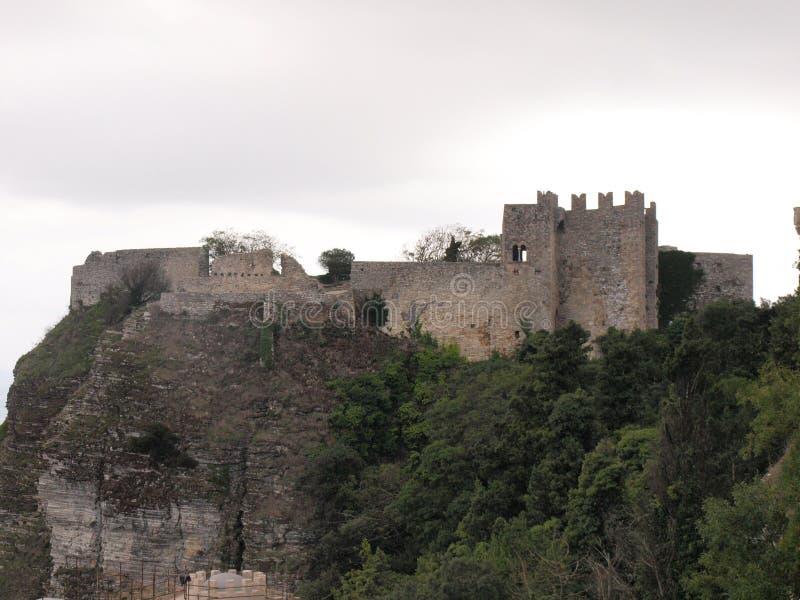 Castello in Erice fotografia stock