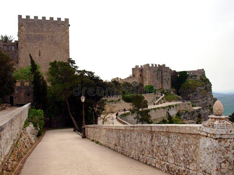 Castello in Erice immagini stock libere da diritti