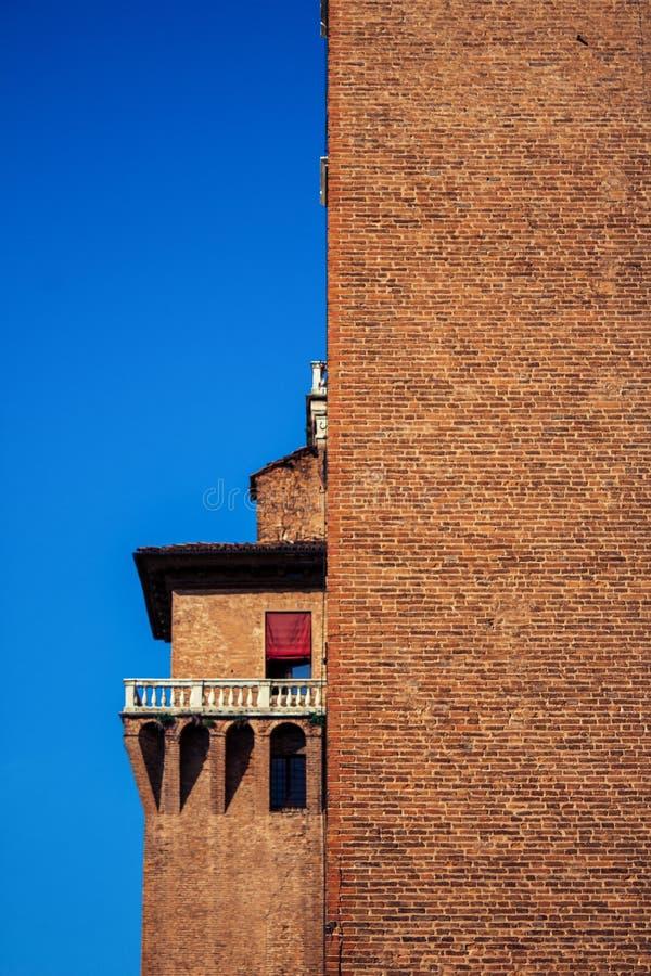 Castello Estense Ferrara zdjęcia stock